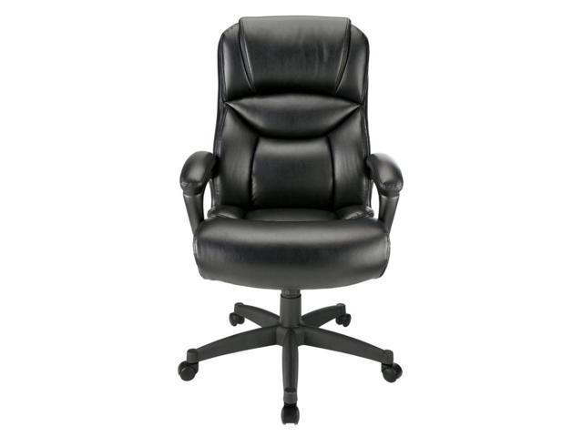 low priced 45024 0f598 Realspace® Fennington Bonded Leather High-Back Executive Chair, Black -  Newegg.com