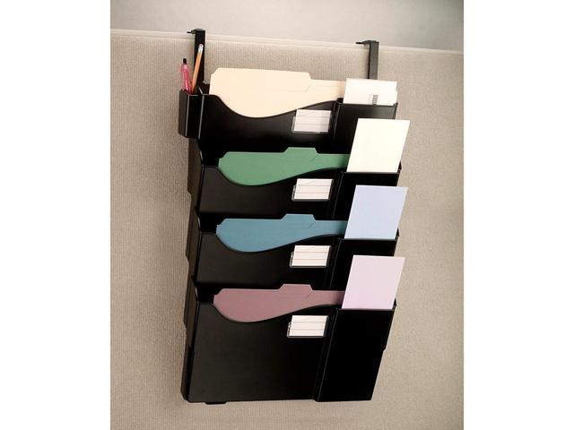 Office Depot Wall Pockets With 4 Hangers Letter Size Legal Black 10728 Newegg