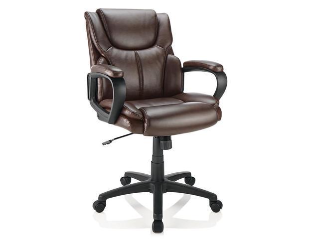Remarkable Brenton Studio Mayhart Vinyl Mid Back Chair Brown Black Alphanode Cool Chair Designs And Ideas Alphanodeonline