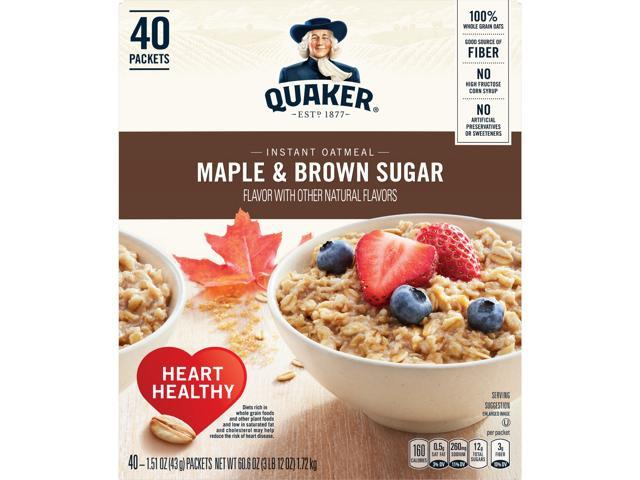 Quaker Instant Oatmeal, Maple Brown