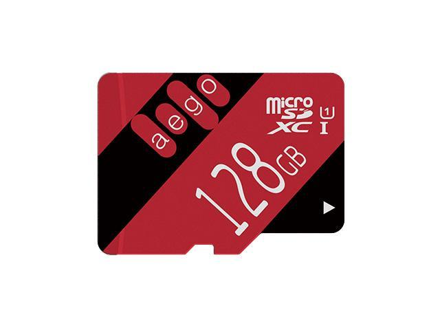 AEGO 128GB Micro SD Card UHS-I MicroSDXC Card Class 10 Memory Card with Free Adapter for Tablets/Dash Cam/Drones (U1 128GB)
