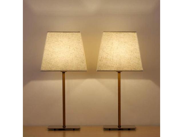 Haitral Tan Wooden Vintage Bedside Lamp