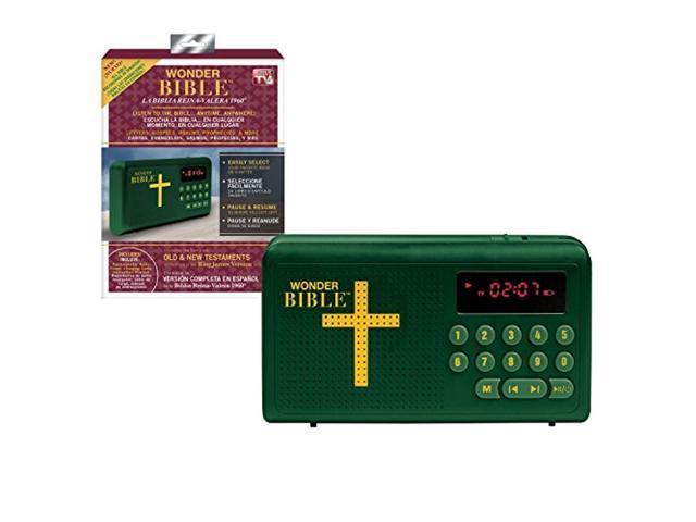 wonder bible spanish - biblia reina-valera 1960, the talking king james  bible audio player in spanish, as seen on tv - Newegg com