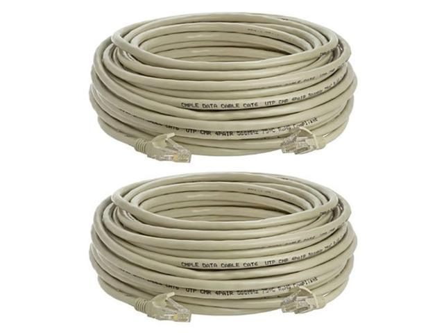 3 ft Blue Cat5e Ethernet Cable Gold Plated Contacts Male to Male Patch Cord 2 Pack