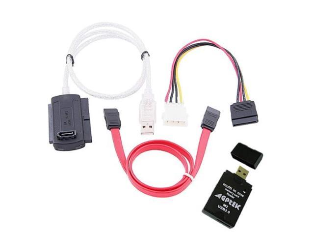 SATA IDE Drive to USB2.0 Converter Cable for 2.5//3.5//5.25 Hard Drive
