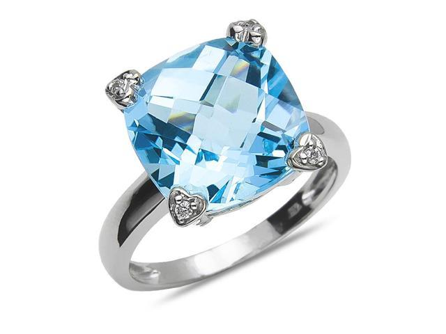 Supplies 925 Solid Sterling Silver Captivating Genuine Blue Ring Blue Topaz Blue Stone Silver Ring