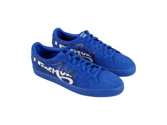 Puma Suede Classic X Pepsi Mens Blue Low Top Sneakers Shoes