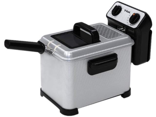t fal fr4046002 filtra pro 2 6 pound 3 liter deep fryer with stainless steel waffle and filter screen silver newegg com newegg
