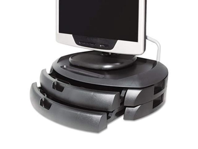 Kantek Inc Lcd Monitor Stand With 2 Drawers 18 X 12 1 2 X 5 Black 3 Pack Newegg Com