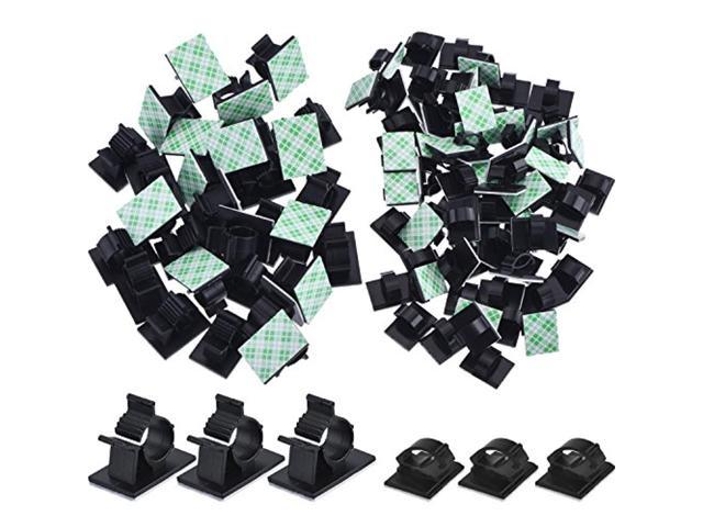 eBoot 100 Pieces Adhesive Cable Clips Wire Clips Cable Wire Management Wire Cabl