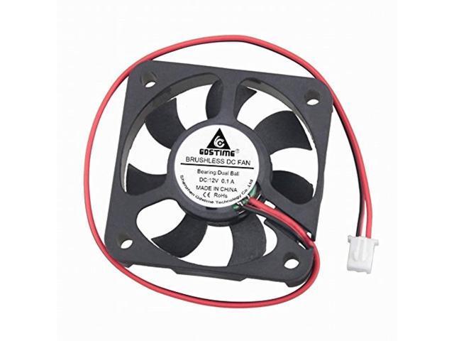 10 Pieces GDSTIME 50x50x10mm 50mm 12V Brushless PC Computer Cooler Cooling fan
