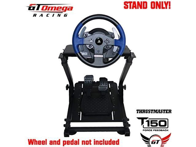 gt omega steering wheel stand pro for thrustmaster t150 force feedback  racing wheel ps4 & pedals, supporting tx, xbox, fanatec - Newegg com