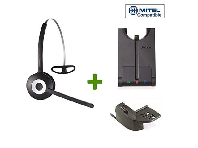 Mitel Compatible Jabra Pro 920 Wireless Headset Bundle Remote Answering Lifter Included Compatible Mitel Ip Phones 5000 5 Newegg Com
