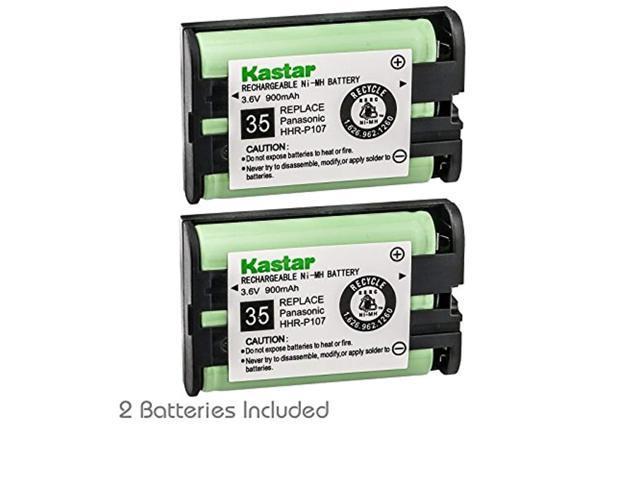 kastar battery 2-pack type 35 cordless telephone battery for panasonic  hhr-p107 hhr-p107a hhr-p107a/1b bb-gta150 bb-gt1500b kx- - Newegg com