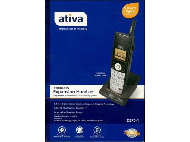 ativa 5 8 ghz digital technology cordless expansion handset! - Newegg com