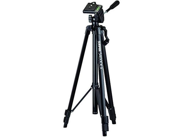 "Sunpak 620-540DLX 5400DLX 54/"" Tripod with 3-Way Pan Head for Digital Cameras"