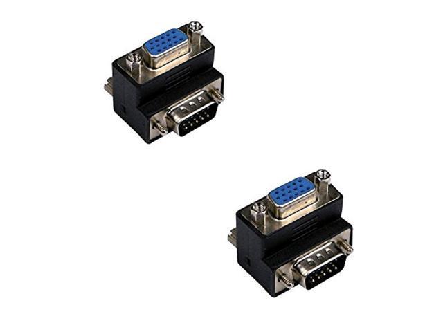 90 Degree Right Angle 15 Pin VGA SVGA Male to Female Converter Angle Cool Good