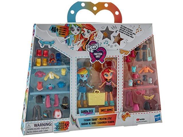 My Little Pony Equestria Girls Fashion Squad Rainbow Dash & Sunset Shimmer  Mini Doll Set With 40+ Accessories - Newegg.com