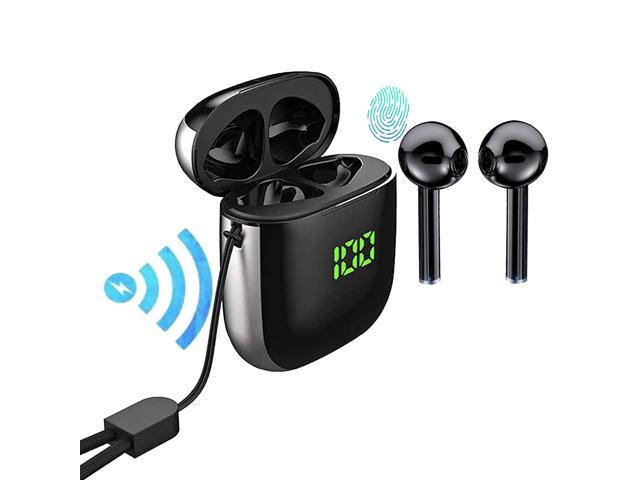 Top Bluetooth 5 0 Wireless Earbuds With 24hrs Wireless Charging Case Ipx5 Waterproof Tws Stereo Headphones In Ear Built In Mic Headset Premium Sound With Deep Bass For Sport Newegg Com