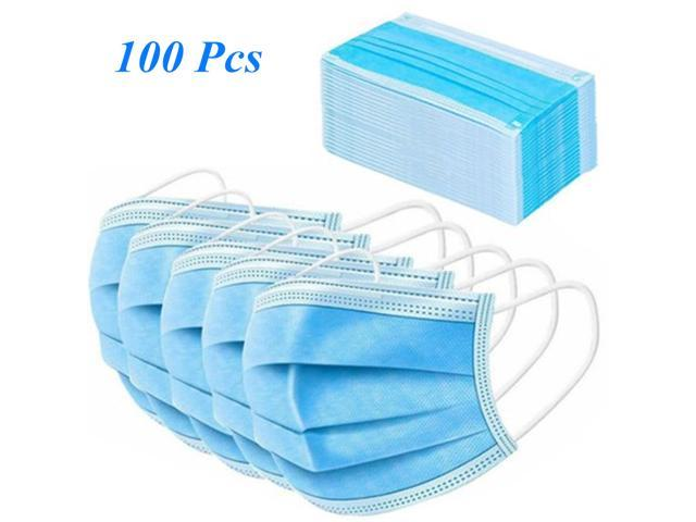 100pcs 3-Ply Disposable Face Mask
