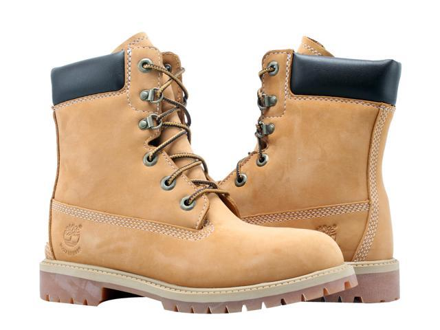 purchase original great fit 2019 best Timberland 8-Inch Premium Waterproof Wheat Junior Big Kids Boots A14XF Size  4.5