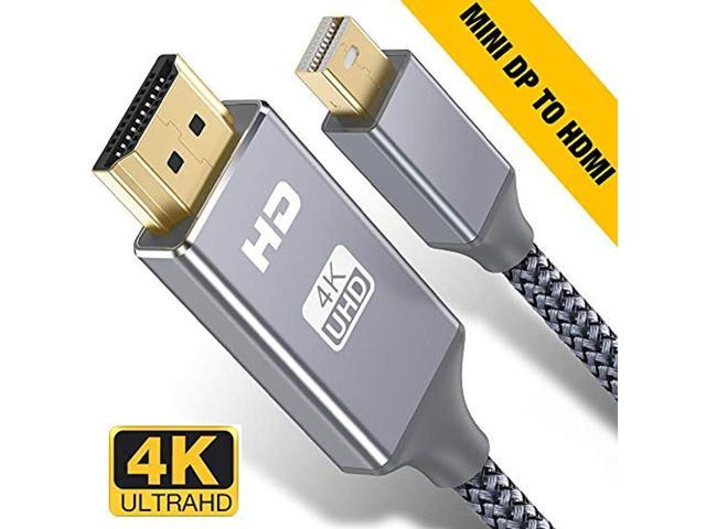 DisplayPort DP to HDMI Audio Video Cable Cord Adapter Gold Plated PC HDTV 6FT