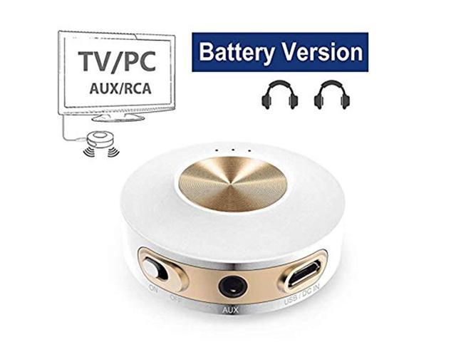 Avantree Priva IIA Bluetooth Transmitter, Dual Link aptX Low Latency for TV  PC (3 5mm AUX, RCA, NOT Optical), Built-in Battery for Portable Use,
