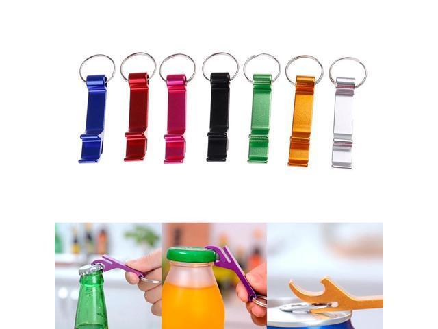 4 In 1 Key Ring Chain Mini Beer Bottle Opener Aluminum Kitchen Bar Keytag hand