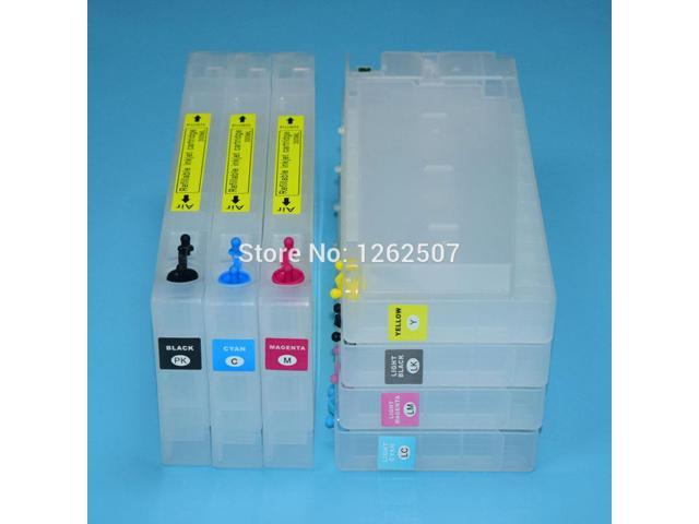 300ml Refillable cartridge for Epson Stylus Pro 4800 printer with chip  resetter - Newegg com