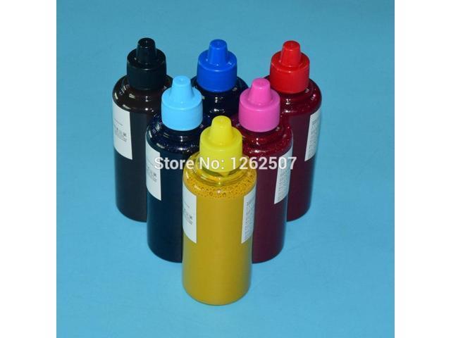 100ml * 6colors Dye Sublimation ink refill kits For Epson Stylus photo 1410  R290 R390 RX590 TX800 TX700 T50 725 730 1430 Printer - Newegg com