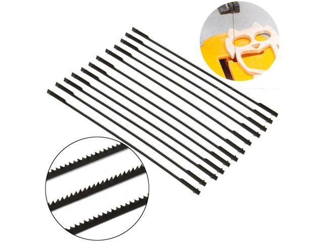 12pcs 127mm Pinned Black Scroll Saw Blades Woodworking Power Tools Accessories