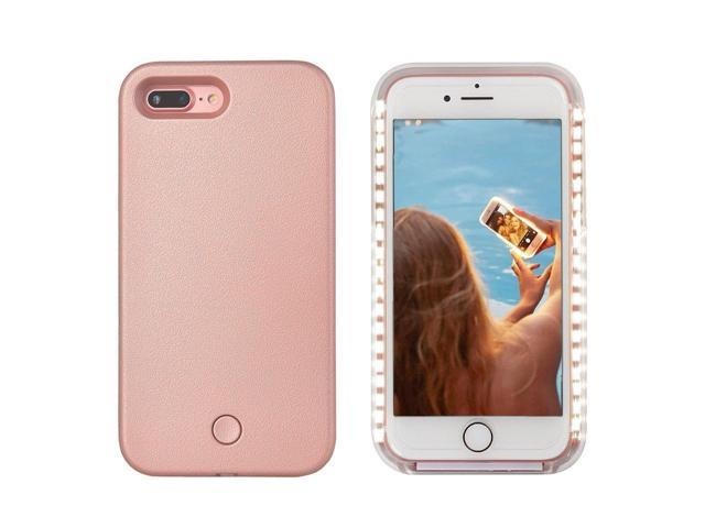 big sale 057af dde2f LED Light Up Selfie Case Illuminated Cell Phone Case Cover Rechargeable  Power Bright Selfie for iPhone 7 iPhone 8, Rose Gold - Newegg.ca
