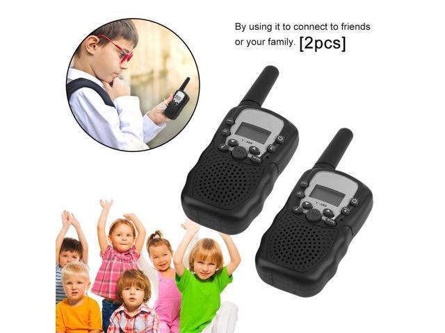 2 Pcs Handheld Children Walkie Talkie Radio Intercom T388 Multi-Channels  Two Way Radio Educational Games For Kids - Newegg com