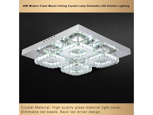 48w Modern Flush Mount Ceiling Lamp Dimmable Led