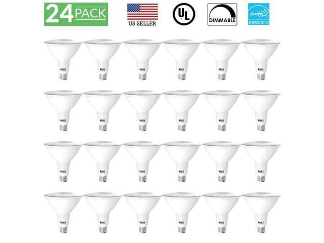 sunco lighting 24 pack par38 dimmable flood led light bulb 13w 5000k  daylight