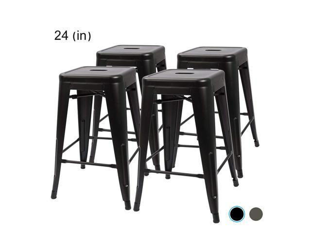 Brilliant Bossin 24 Modern Metal Stool Backless Industrial Counter Ocoug Best Dining Table And Chair Ideas Images Ocougorg