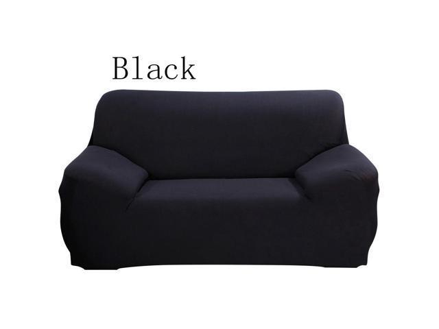 Sofa Slipcover for Two Seats, Spandex Stretch Sectional Sofa Slipcover for  Chair Cushion for Furniture Cover(Black) - Newegg.com