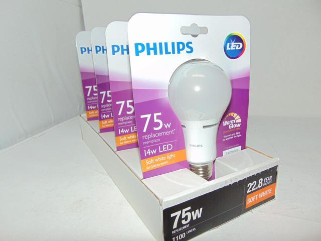 4 Pack 75w Equivalent Soft White Household A21 Dimmable Led Energy Star With Warm Glow Light Effect Light Bulb
