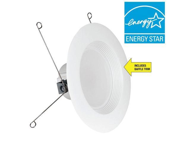 6-Pack Feit Electric 5 /& 6 in White Trim Recessed Retrofit Baffle LED Light NEW