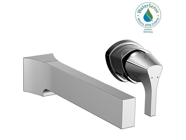 Used Good Zura Single Handle Wall Mount Bathroom Faucet Trim Kit In Chrome Valve Not Included Newegg Com