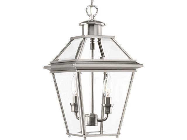 Progress Lighting Rizu Collection 3 Light Brushed Nickel: Good: Burlington Collection 2-Light Outdoor Brushed