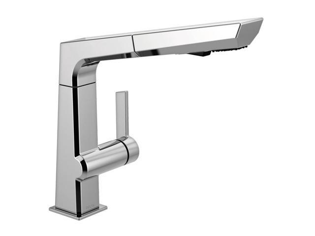Pivotal Single-Handle Pull-Out Sprayer Kitchen Faucet in ...