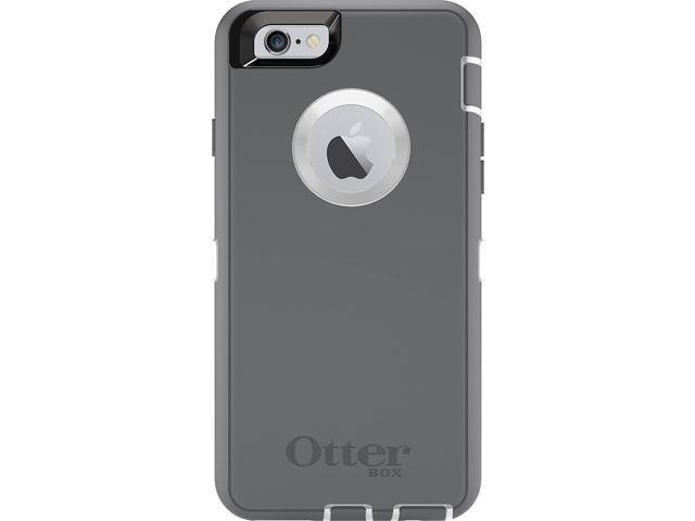 OtterBox DEFENDER iPhone 6/6s Case - Retail Packaging - GLACIER  (WHITE/GUNMETAL GREY) - Newegg com