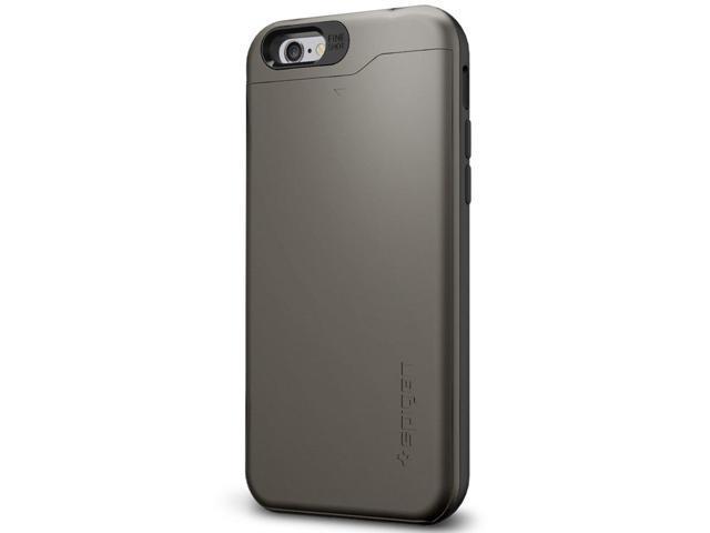 official photos f58c3 ddf20 iPhone 6s Case/iPhone 6 Case, Spigen Slim Armor CS - Slim Dual Layer Waller  Design Card Holder Case for Apple iPhone 6S / iPhone 6 - Gunmetal - ...