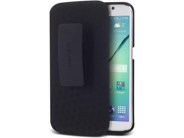 online retailer 33b83 6b1b9 Galaxy S6 Edge Case, Aduro Shell & Holster Combo Case Super Slim Shell Case  w/Built-in Kickstand + Swivel Belt Clip Holster for Samsung Galaxy S6 Edge  ...