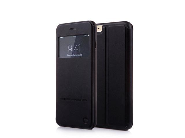 save off a6f0e cc994 Nouske iPhone 6/6S Smart Touch Case S-View Window Flip Cover/Magnetic  Closure/Stand/TPU bumper/360 protection, Black - Newegg.com
