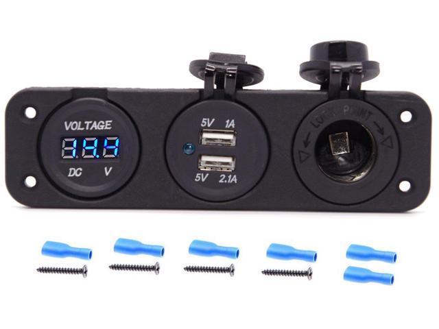 Accessory Lighter socket outlet 12V Marine w// Blue LED