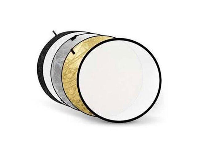 Zykkor 5-in-1 Reflector 32 with Gold Silver Translucent Black /& White Surfaces.