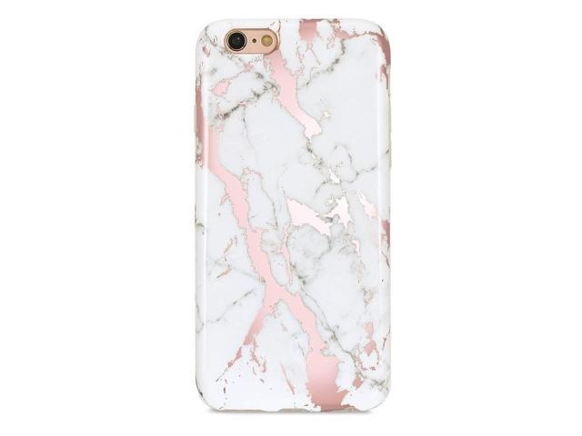 Golink Iphone 6 Caseiphone 6s Case For Girls Shiny Rose Gold Marble Series Slim Fit Ultra Thin Anti Scratch Shock Proof Dust Proof Glossy Tpu Case