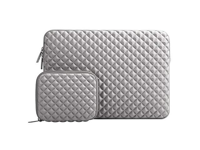 d3d7ce26c24f Laptop Sleeve Compatible 11-11.6 Inch MacBook Air, Ultrabook Netbook with  Small Case, Shock Resistant Diamond Foam Water Repellent Lycra Tablet Bag  ...